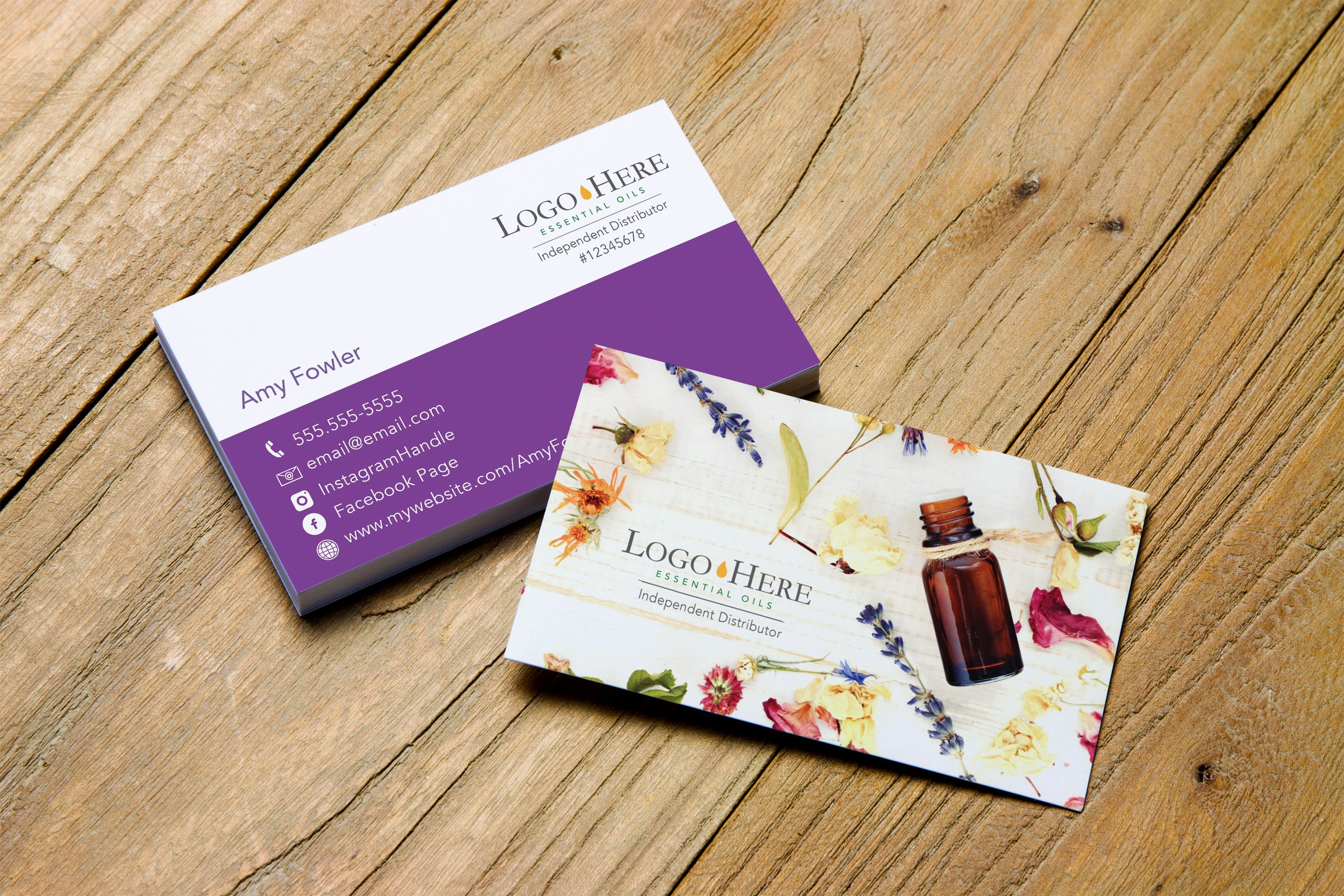 Floral Business Card Design > Personalized for Essential Oil ...
