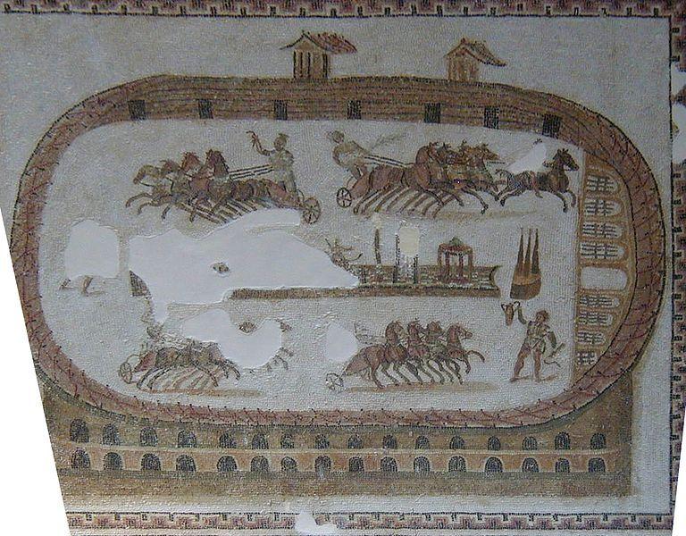 Toeletta ostia ~ Course de chars dans le cirque de carthage ii iiième siècle