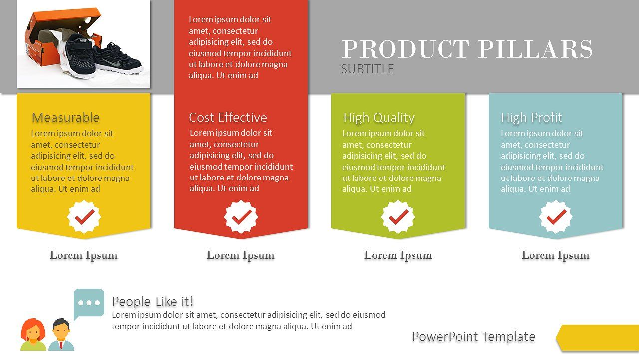 $3 - Product Pillars PowerPoint by Yes Presentations on @creativemarket