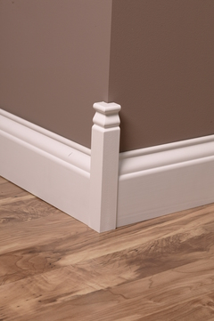 Rapidfit 9 In X 1 1 8 In Interior White Mdf Colonial Outside Corner Moulding Block At Lowes Com Outside Corner Moulding Corner Moulding Moulding Blocks