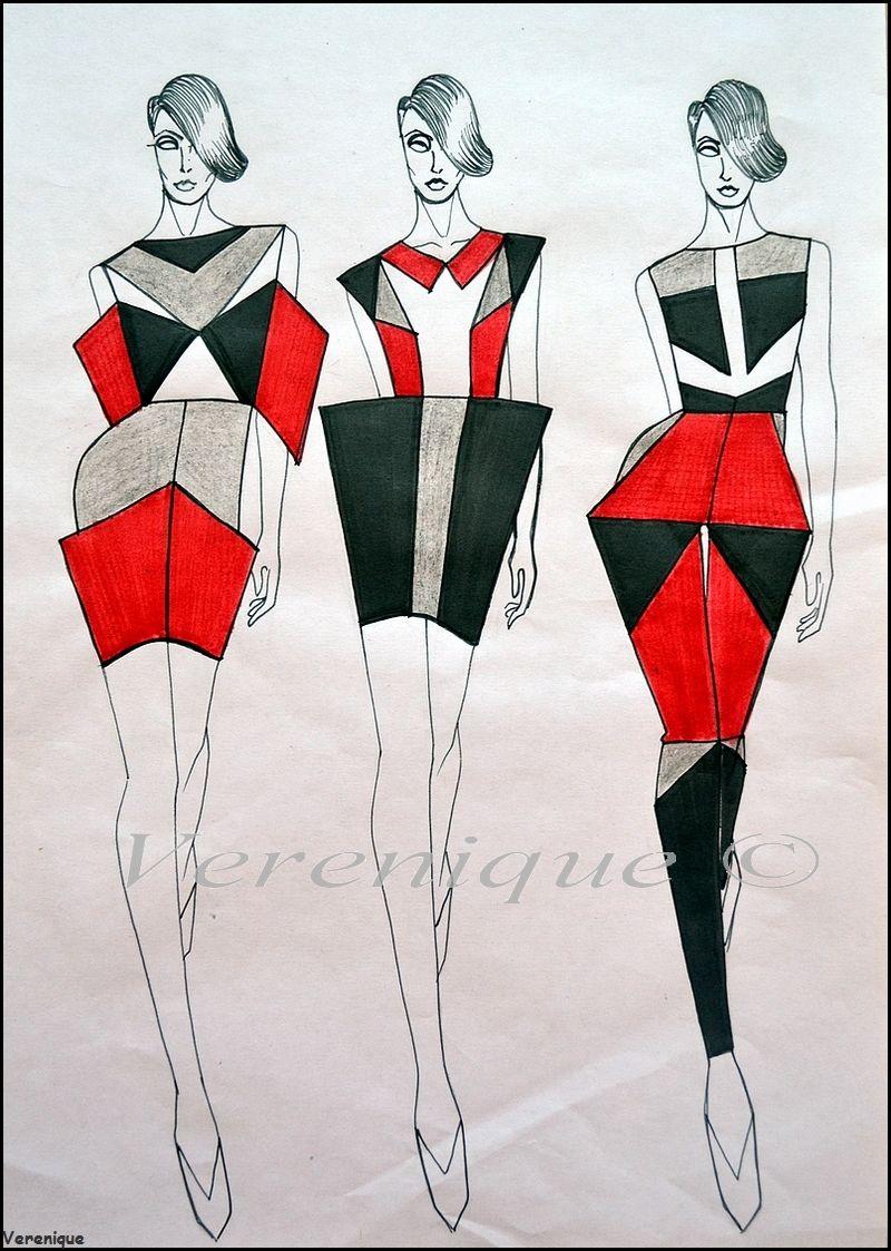 Gown Drawing Image By Emmaemy14 Fashion Illustration Sketches Fashion Design Sketches Geometric Fashion Design
