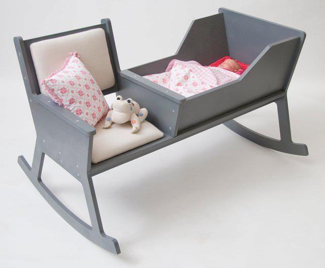 mama en baby schommelstoel