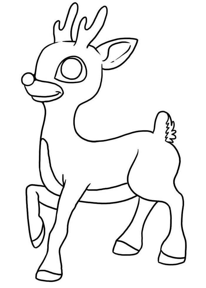 50+ Reindeer Shape Templates, Crafts & Colouring Pages ...