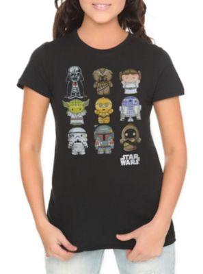 Star Wars Chibi Characters Girls T-Shirt