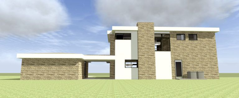 Modern Home with Large Windows. 3 Bedrooms