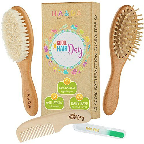 Infant Baby Boys Girls Perfect Shower Gift Cradle Cap Brush and Comb Set and