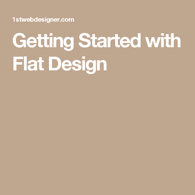 Getting Started with Flat Design