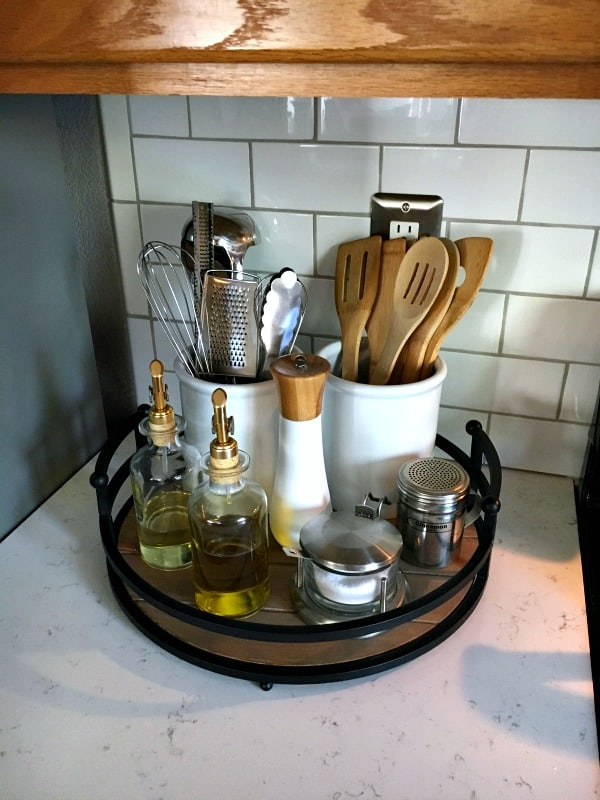 11 Kitchen Countertop Organization Ideas To Help You Build A Beautiful Kitchen One Does Simply Small Kitchen Storage Kitchen Counter Inspiration Small Kitchen Organization