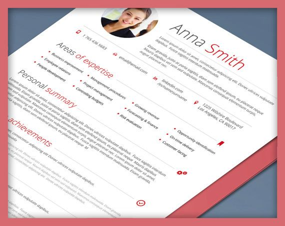 Resume Template no 4   Instant Download   Creative   Microsoft