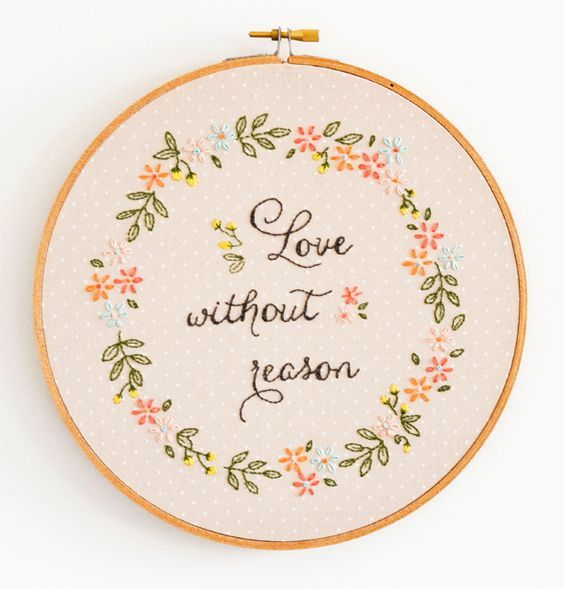 Love Without Reason pattern & tutorial | Bordado | Pinterest