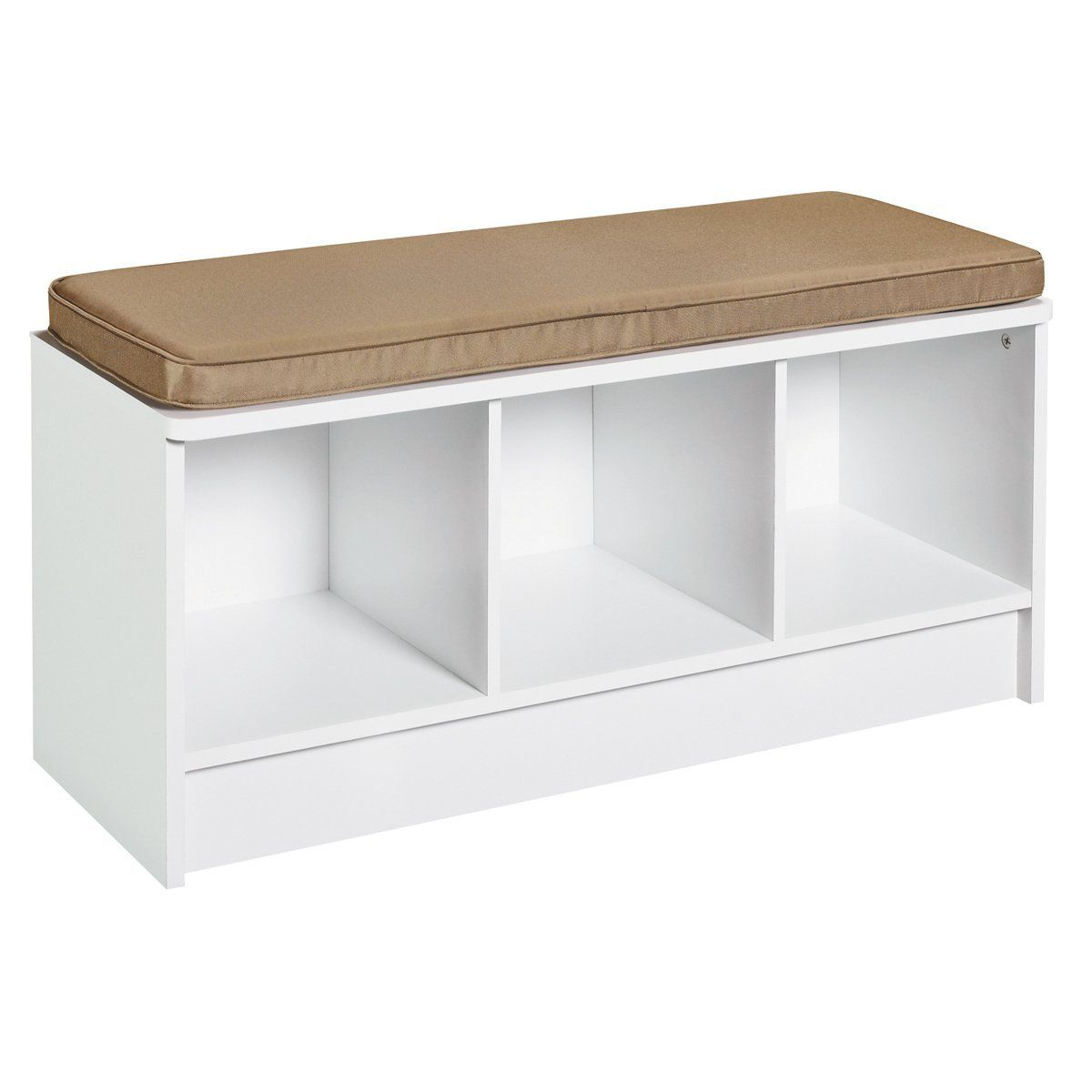 Amazon Com Closetmaid 1569 Cubeicals 3 Cube Storage Bench White