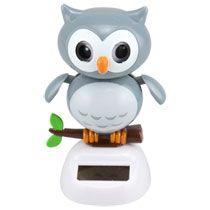 Bulk Plastic Solar Powered Dancing Owls 4 At Dollartree Com Dancing Toys Bobble Head Novelty Toys
