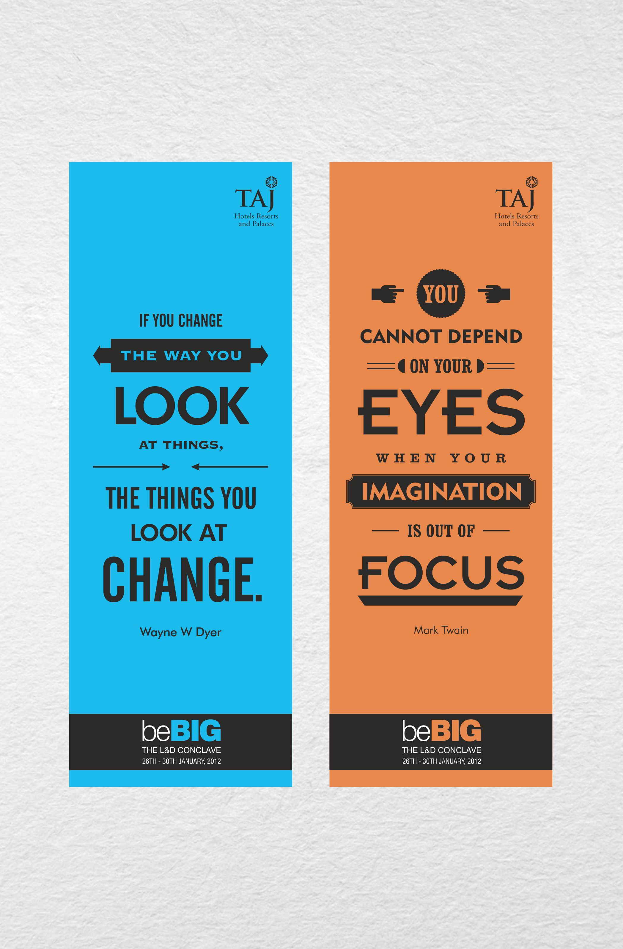 Taj Motivational Bookmarks developed to motivate employees at the ...