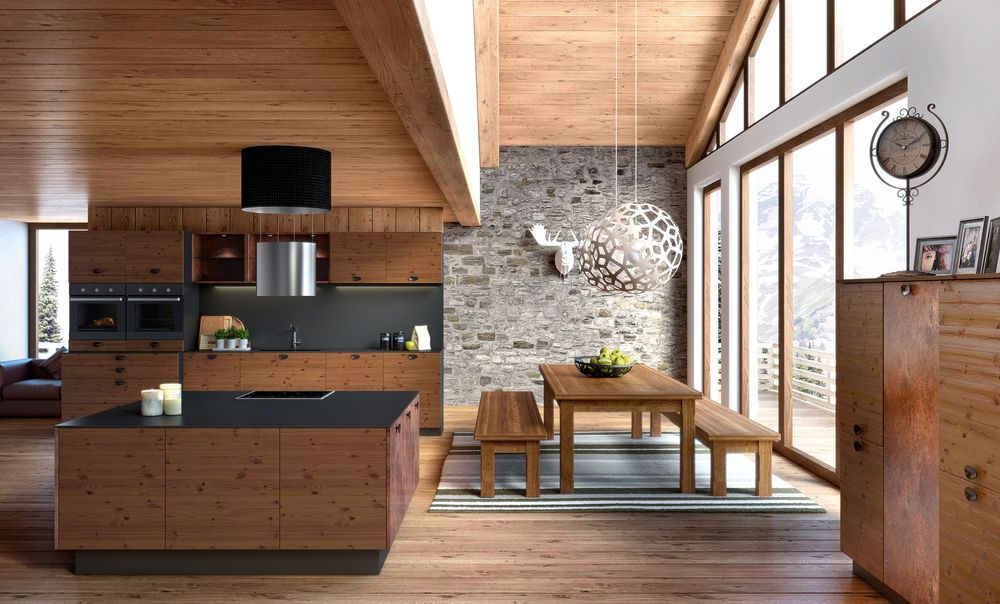 Cuisine am ricaine aidera r unir toute votre famille dans votre chalet en bois id es d co for Interieur maison americaine
