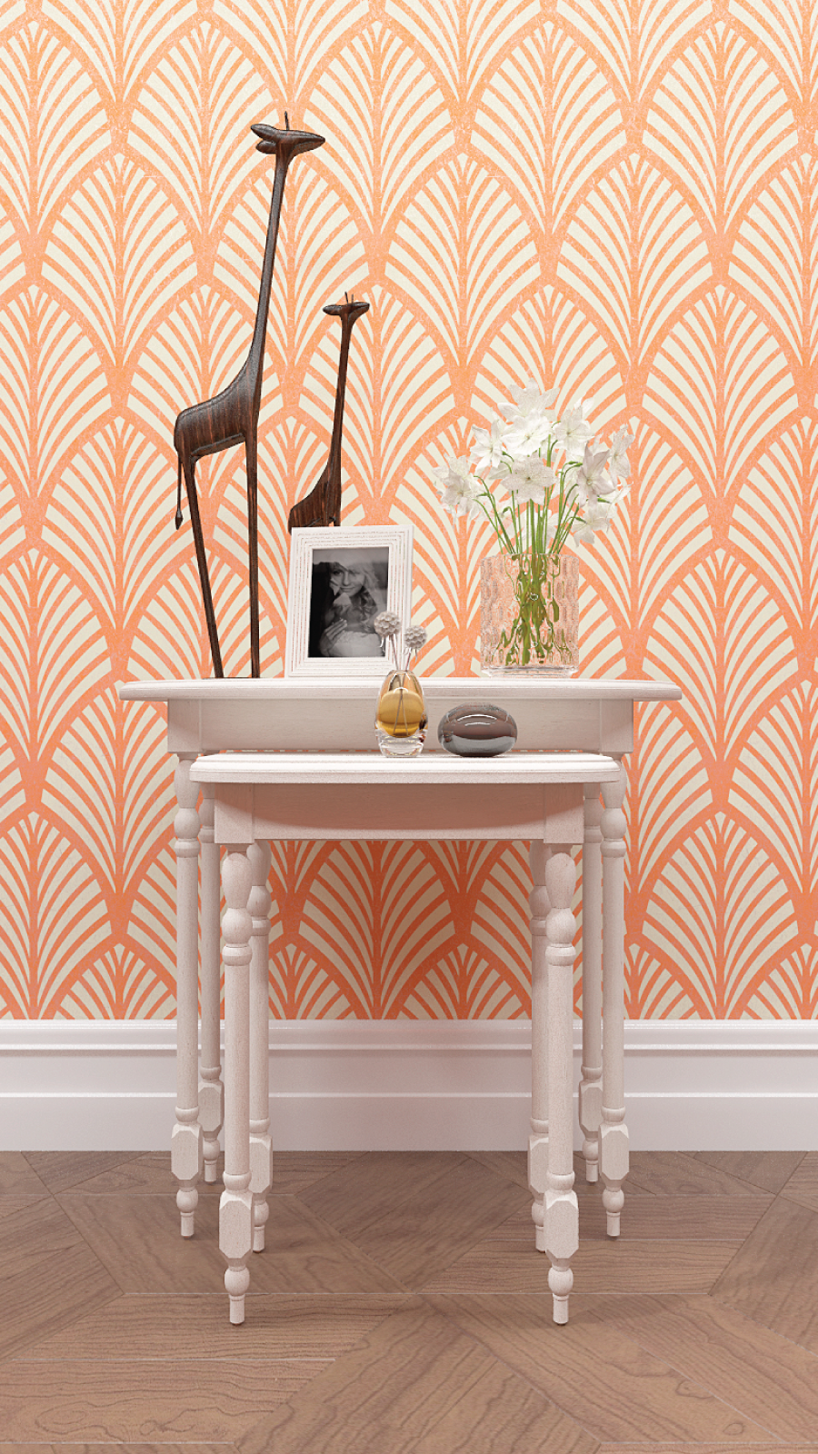 Palm leaf allover wall stencil large wall stencils with the help of pattern wall stencils you can make the interior of your home look more saturated and