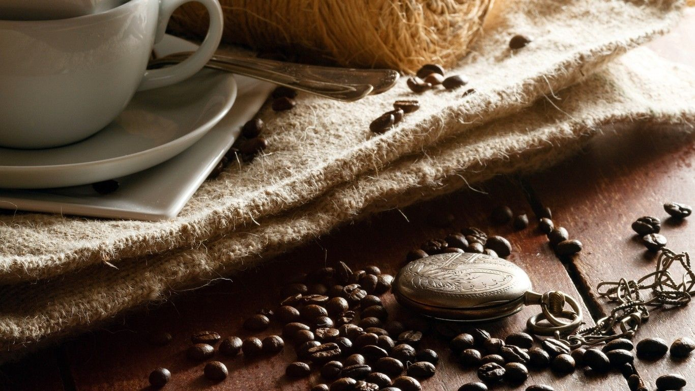 Обои кофе, зерна, стол, ложка. Разное foto 18