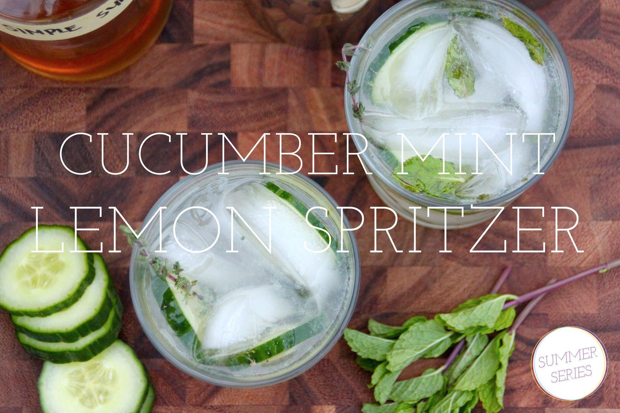 cucumber mint lemon spritzer