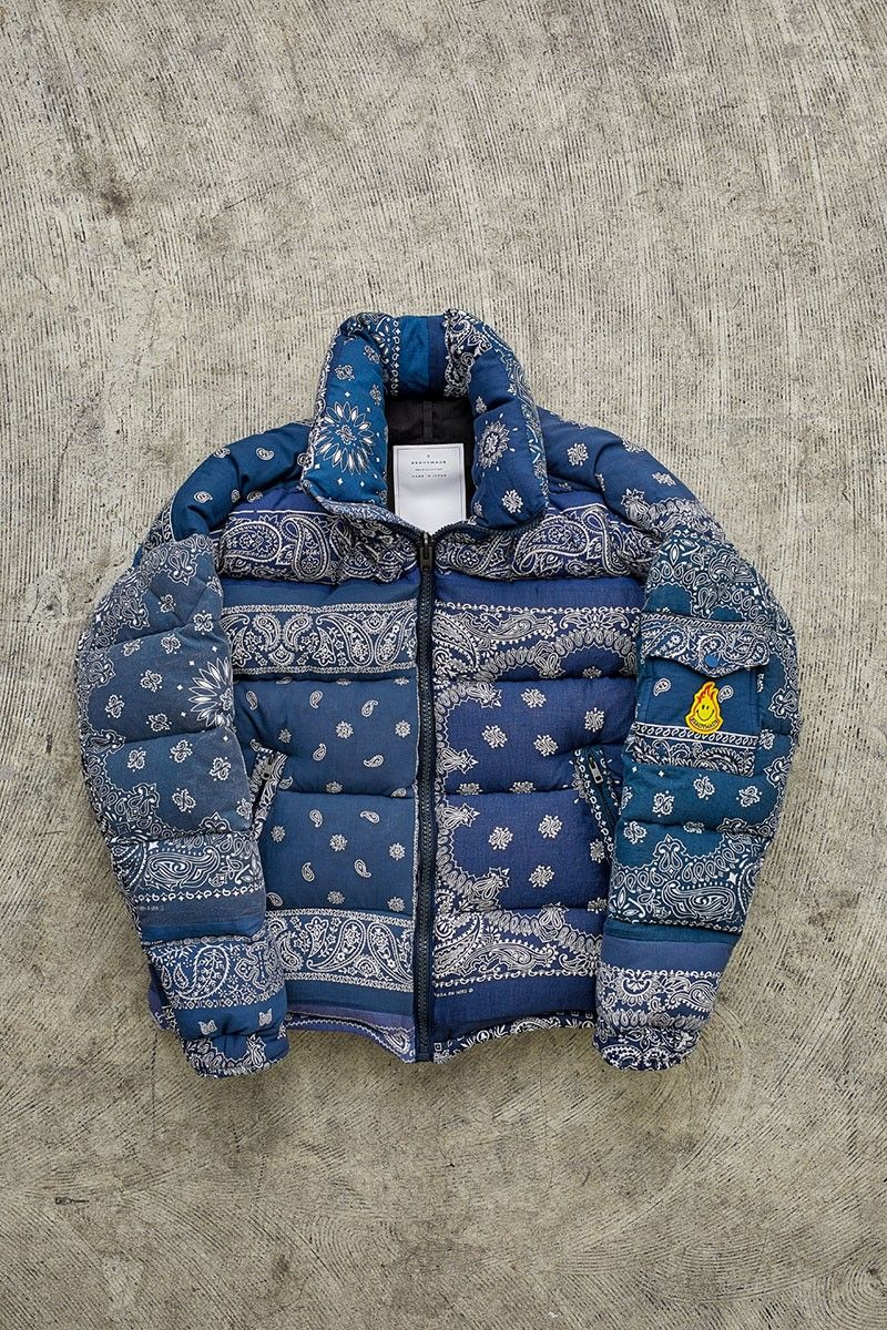 Readymade S New Winter Jacket Is Made From Vintage Bandanas Winter Jackets Jackets Vintage Bandana [ 1200 x 800 Pixel ]