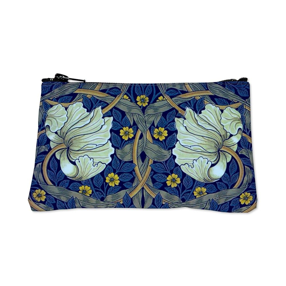 White Blue Tulips Coin Purse by Eveys