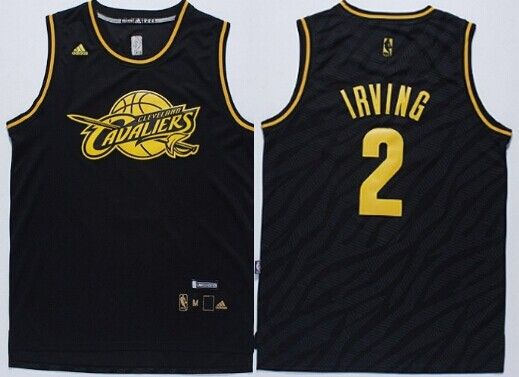 e6c63c70d Cleveland Cavaliers  2 Kyrie Irving Revolution 30 Swingman 2014 Black With  Gold Jersey