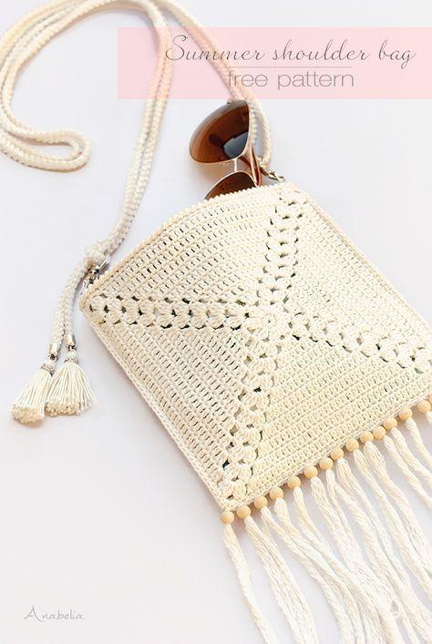 Mini Crochet Shoulder Bag, free pattern by Anabelia Craft Design ...