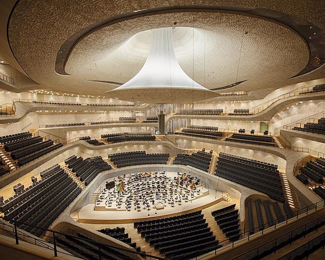 Elbphilharmonie Hamburg Theatre Architecture Concert Hall Auditorium Design