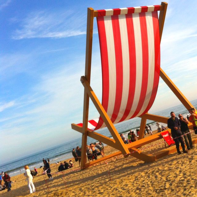 Huge Deck Chair At Bournemouth Beach