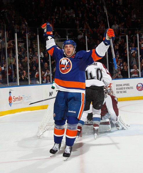 9284663f0 Nikolai Kulemin Photos - Colorado Avalanche v New York Islanders - Zimbio  Hockey Goal