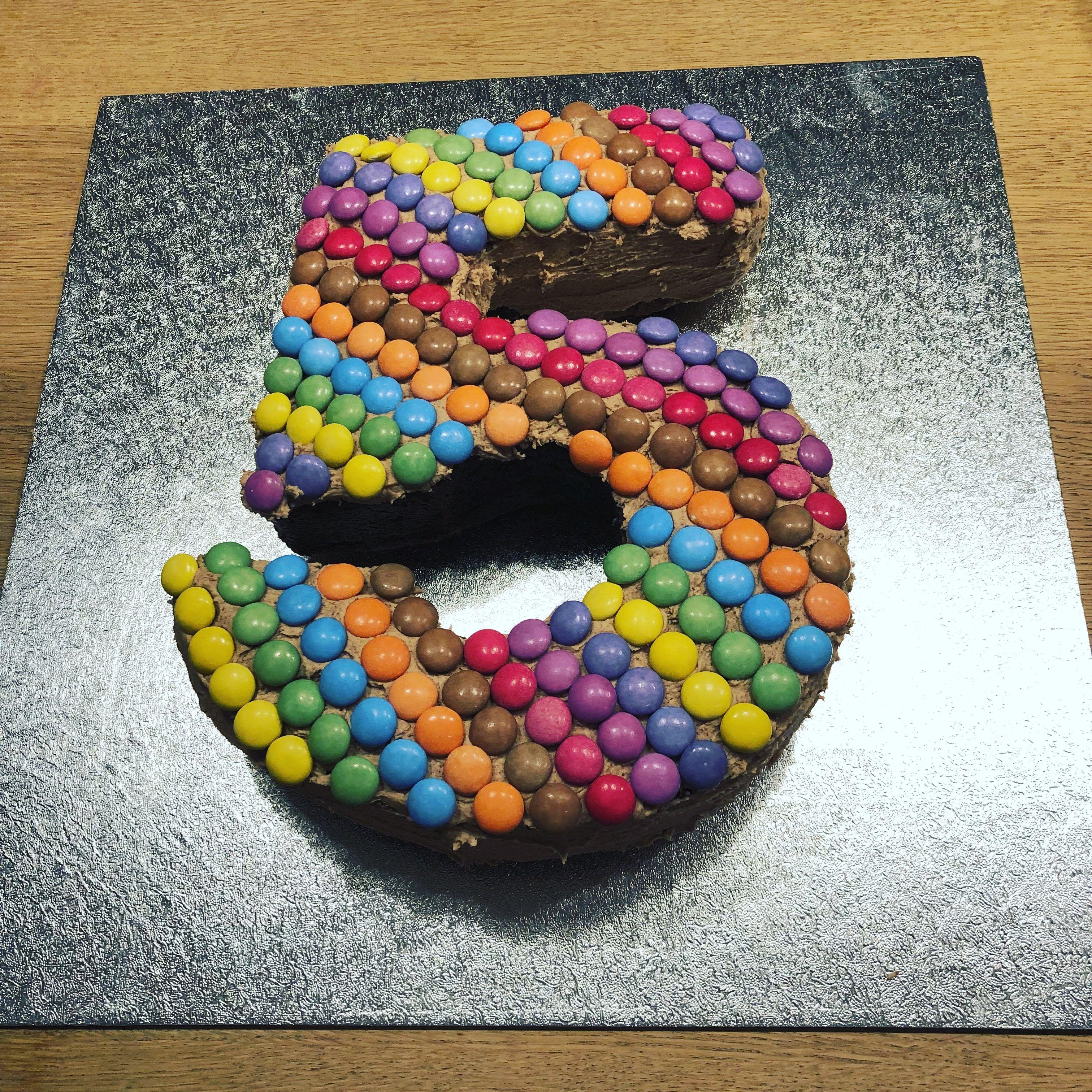 Amazing Number Five Birthday Cake Easy Chocolate Birthday Cake Perfect Personalised Birthday Cards Akebfashionlily Jamesorg