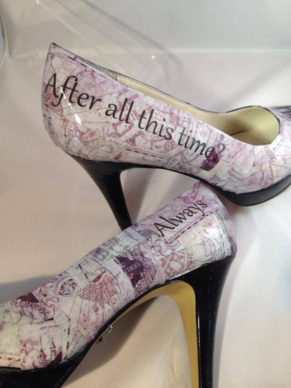 Harry Potter Custom Order Wedding Heels Shoe Addict Pinterest
