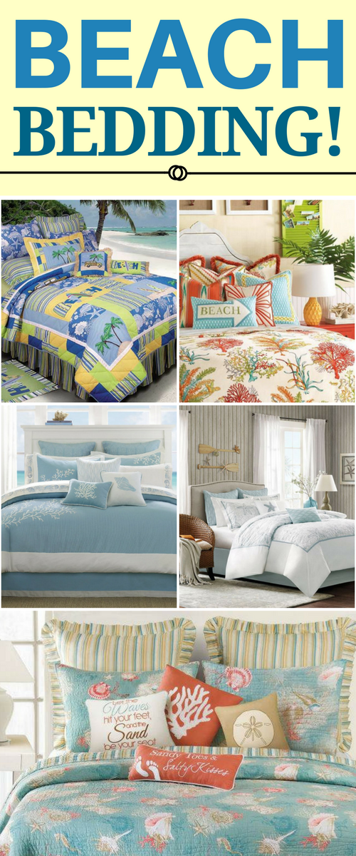 BEST BEACH BEDDING! Discover The Absolute Best Beach Themed Bedding Sets.  We Have Beach And Coastal Bedding Including Comforters, Duvet Covers,  Quilts, ...