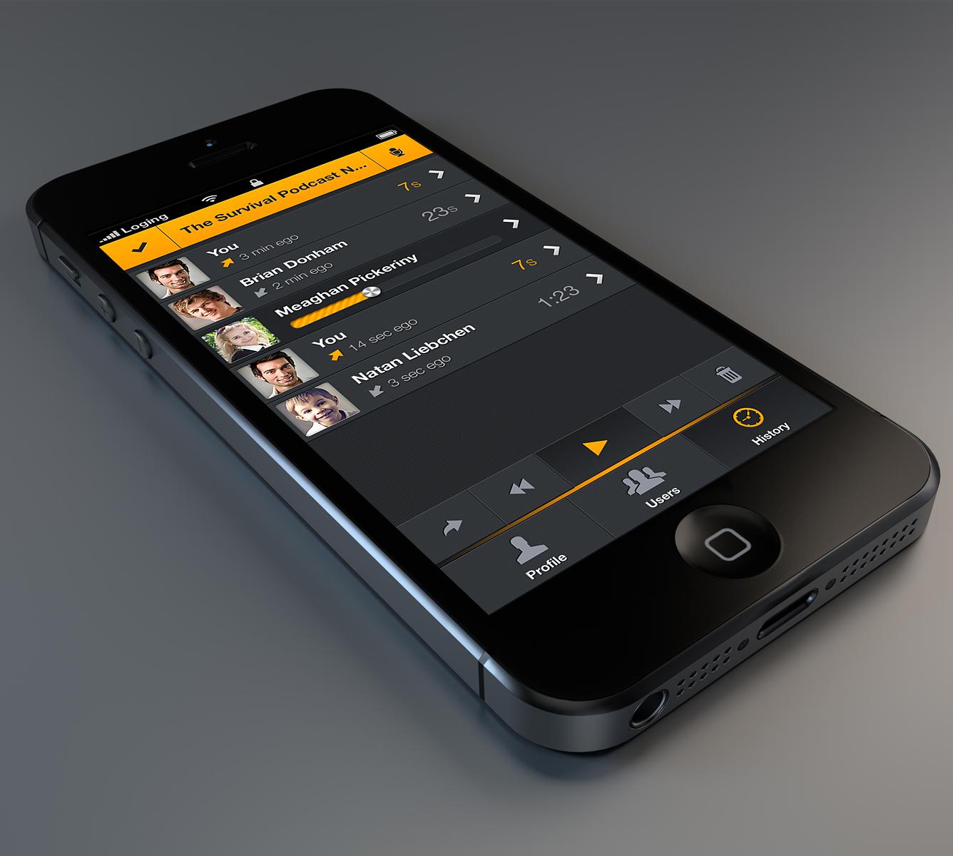 Zello app ui ui App design, App ui, App