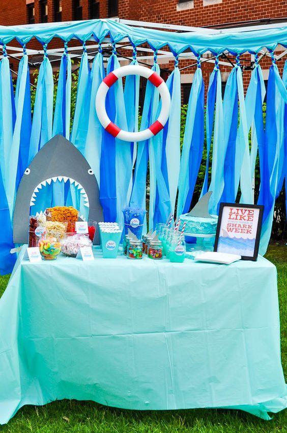 Shark Party Ideas Sebastian Golden Birthday Shark