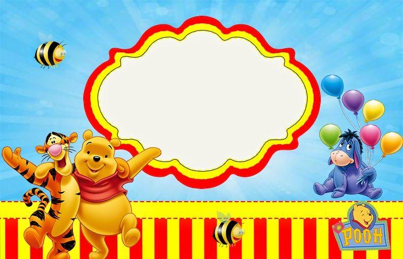 Winnie The Pooh Invitaciones Para Imprimir Gratis