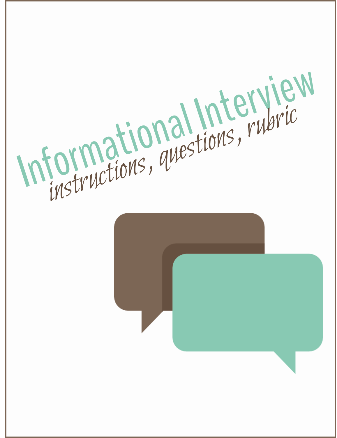 Informational interview powerpoint presentation overview document this zipped file includes an informational interview powerpoint presentation an overview document with notes and altavistaventures Image collections