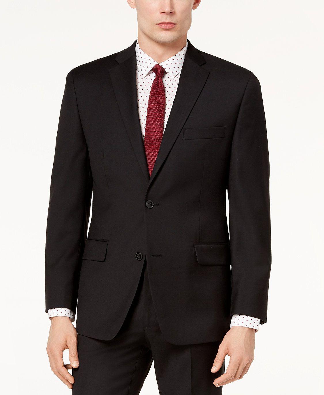 Closeout Men S Classic Fit Airsoft Stretch Black Solid Suit Jacket In 2020 Michael Kors Men Mens Sport Coat Suit Jacket [ 1374 x 1125 Pixel ]