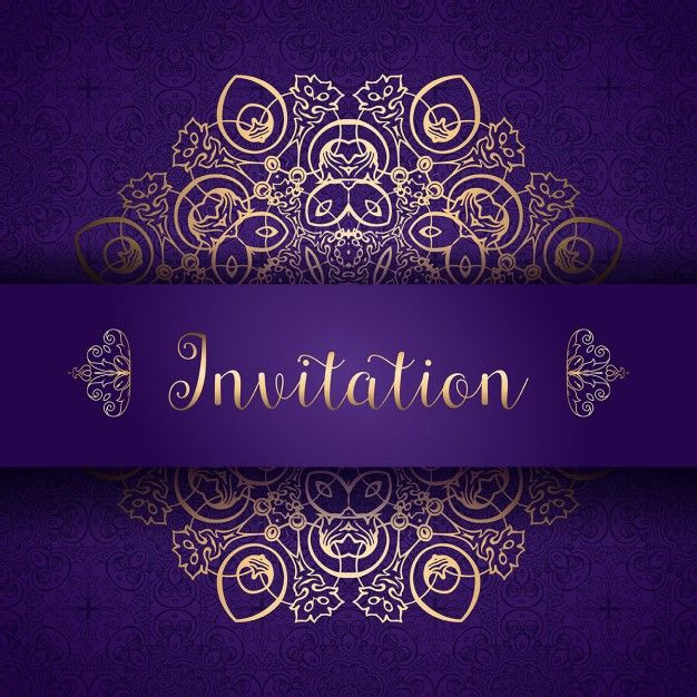 Design élégant pour une invitation Vecteur gratuit