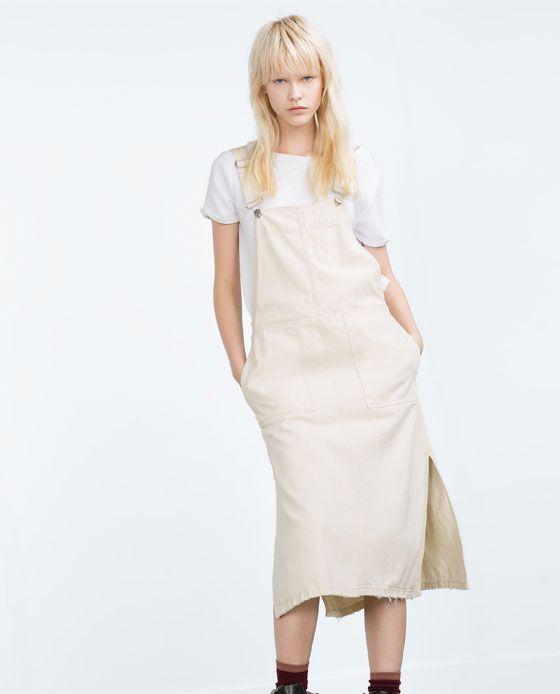 89bf0d9428 DENIM PINAFORE DRESS-Mini-Dresses-WOMAN