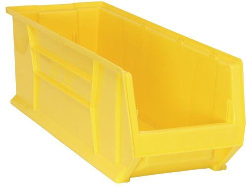 Quantum Qus973 Plastic Storage Stacking Hulk Container 30inch By 11inch By 10inch Yellow Case Of 4 Read Storage Kitchen Storage Organization Plastic Storage