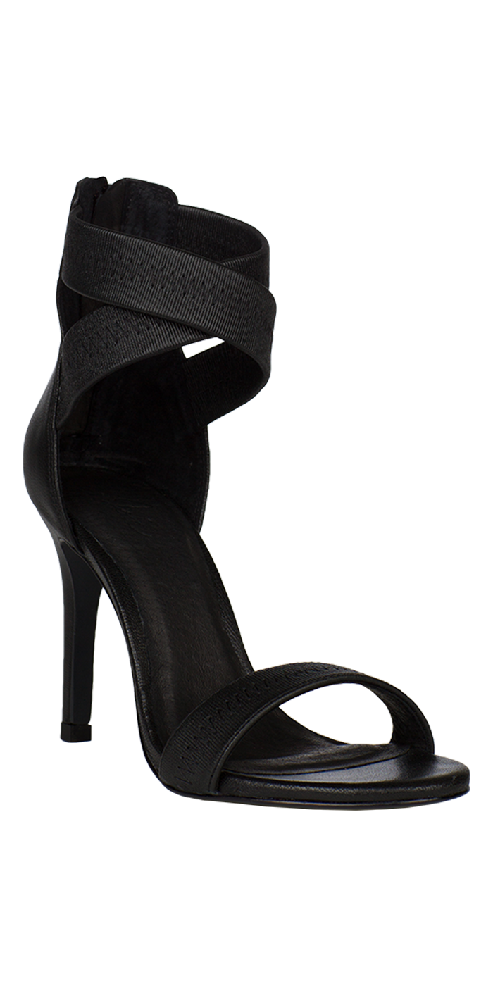 79200bf9464 We re in love with our new Elaine Heel with its elastic criss-cross straps.