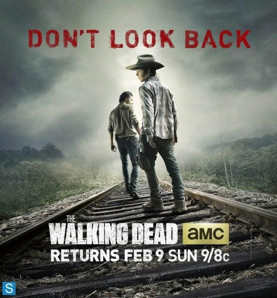 "Cartel del regreso post navideño de ""The Walking Dead"" 