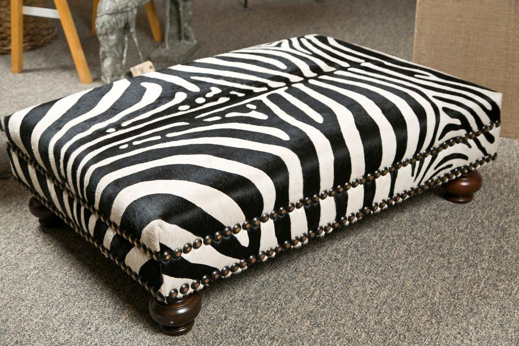 Faux Zebra Skin Ottoman 1stdibs Com Zebra Furniture Ottoman Furniture