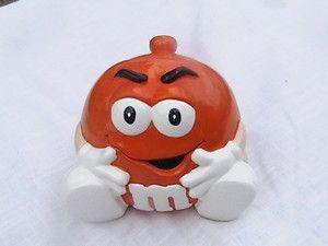 Image detail for -Vintage Orange M M Candy Cookie Jar | eBay