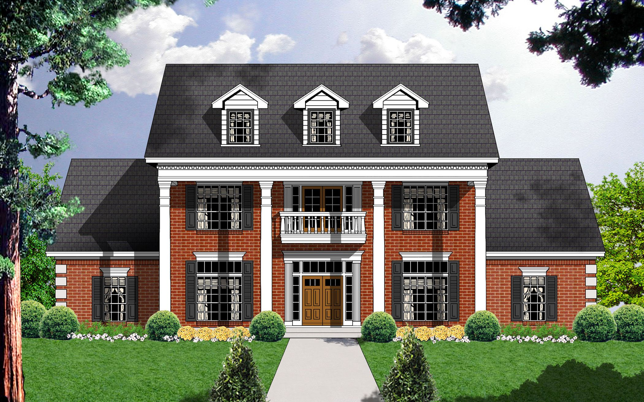 Style And Luxury 7409rd Colonial Georgian Southern