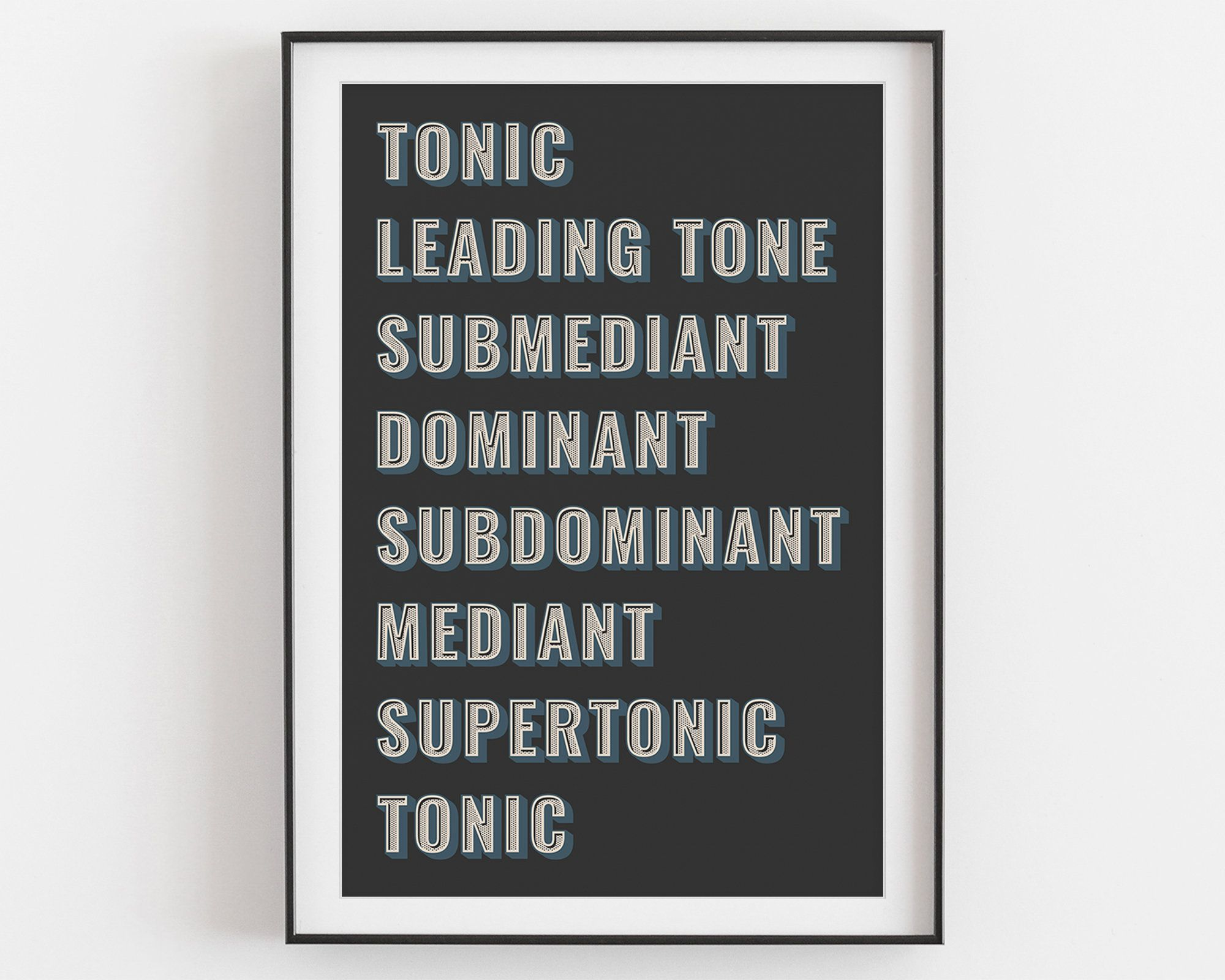 Music Scale Degrees Poster Typographic Poster Music Theory   Etsy ...