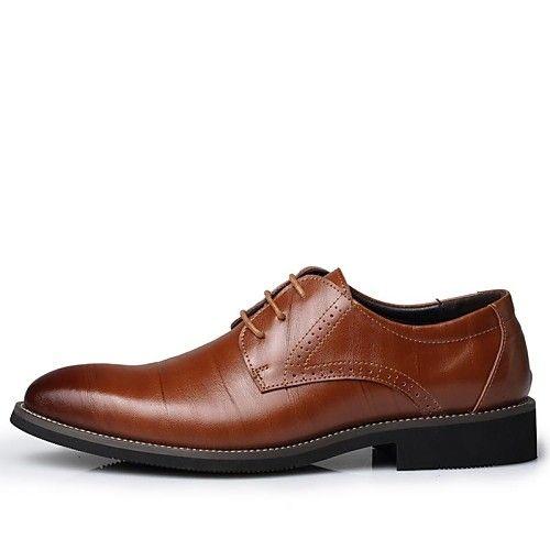 Hombre Zapatos Oxford Verano Confort Oxfords Negro / Amarillo / Marrón GNjIWw