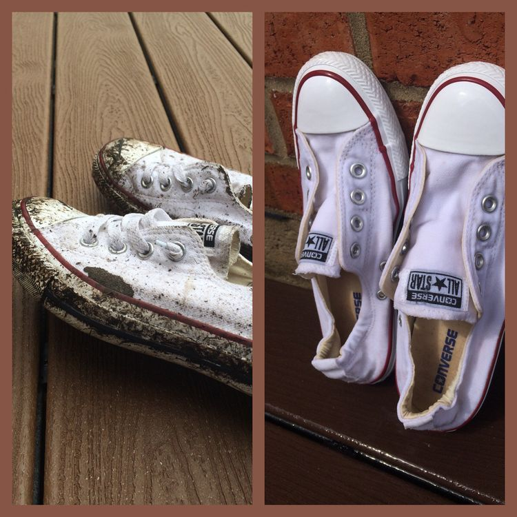 how to clean white converse sneakers