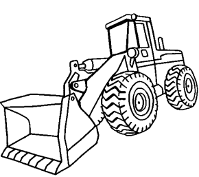 front loader construction vehicle coloring page - Construction Trucks Coloring Pages