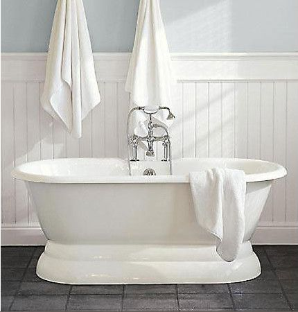 Palais Pedestal Tub White Timber Traditional Style