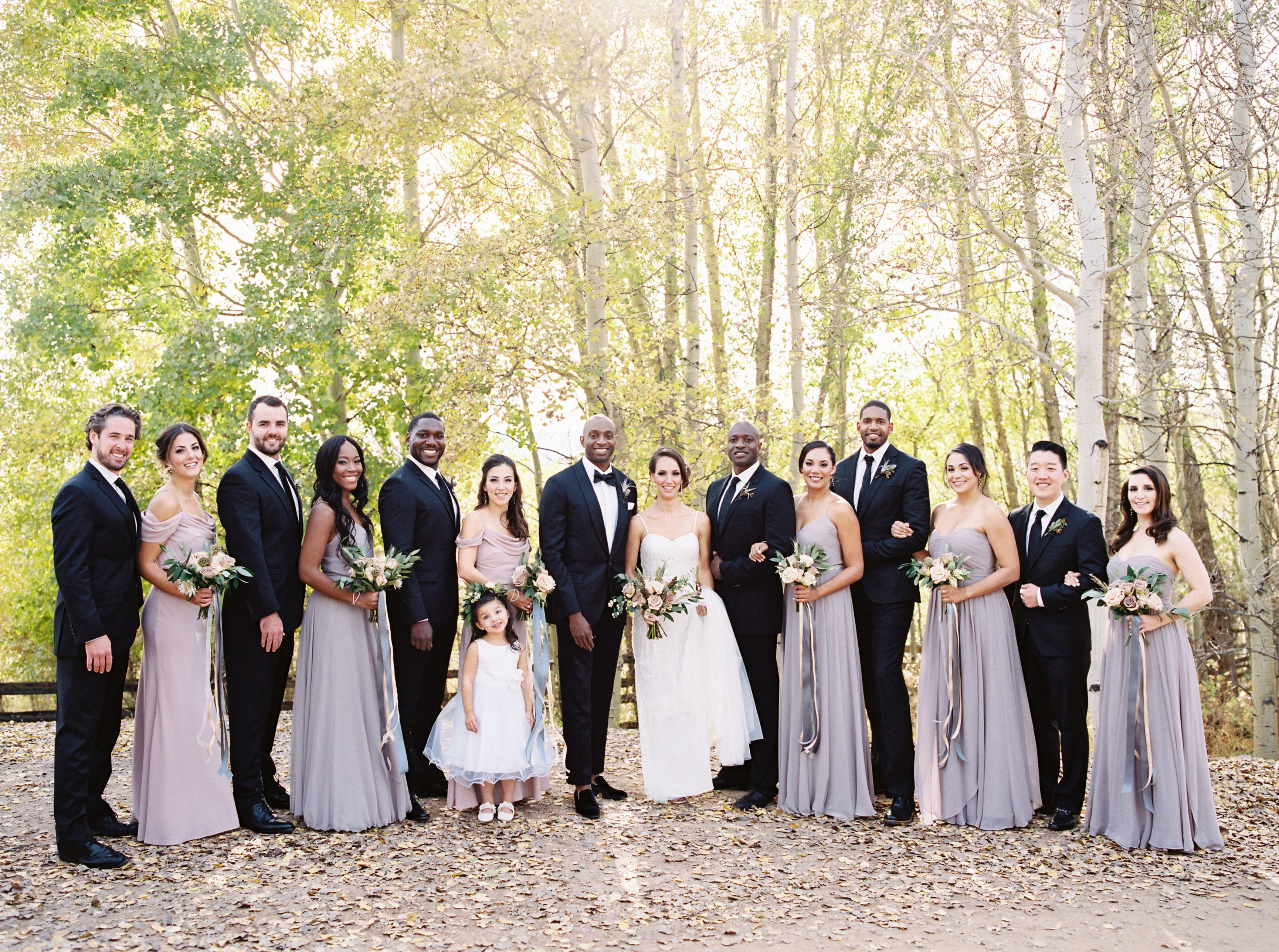 Guests Came from Across the World to this Wyoming Wedding
